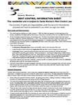 Rent Control Information Sheet